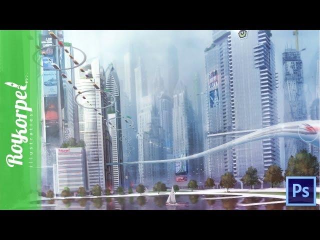 Metropolis - Photoshop speedart - time-lapse for www.tweakers.net
