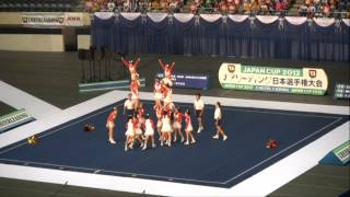 2012 JAPAN CUP チアリーディング日本選手権大会 箕面自由学園A