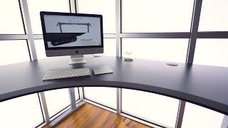 Uplift V2 Curved Corner Standing Desk 1 L Shape Uplift Desk