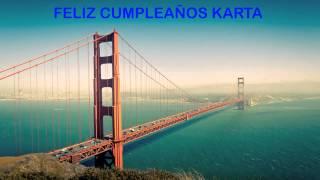 Karta   Landmarks & Lugares Famosos - Happy Birthday