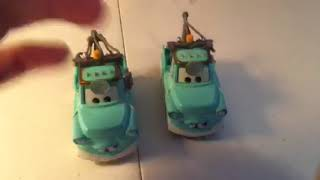 Disney Pixar cars Dr mater with mask down diecast review