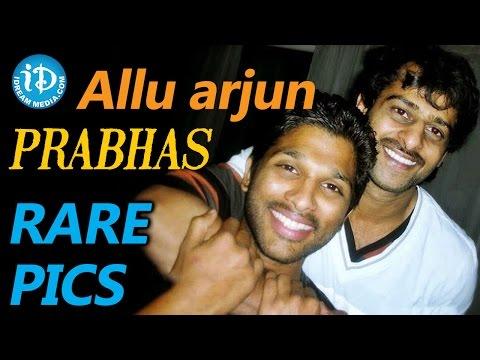 Bahubali Prabhas and Sarrainodu Allu Arjun Rare and Unseen Pics