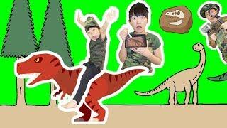 ★「恐竜島で化石発掘~!」まさか本物の恐竜が・・・★Dinosaur Island★