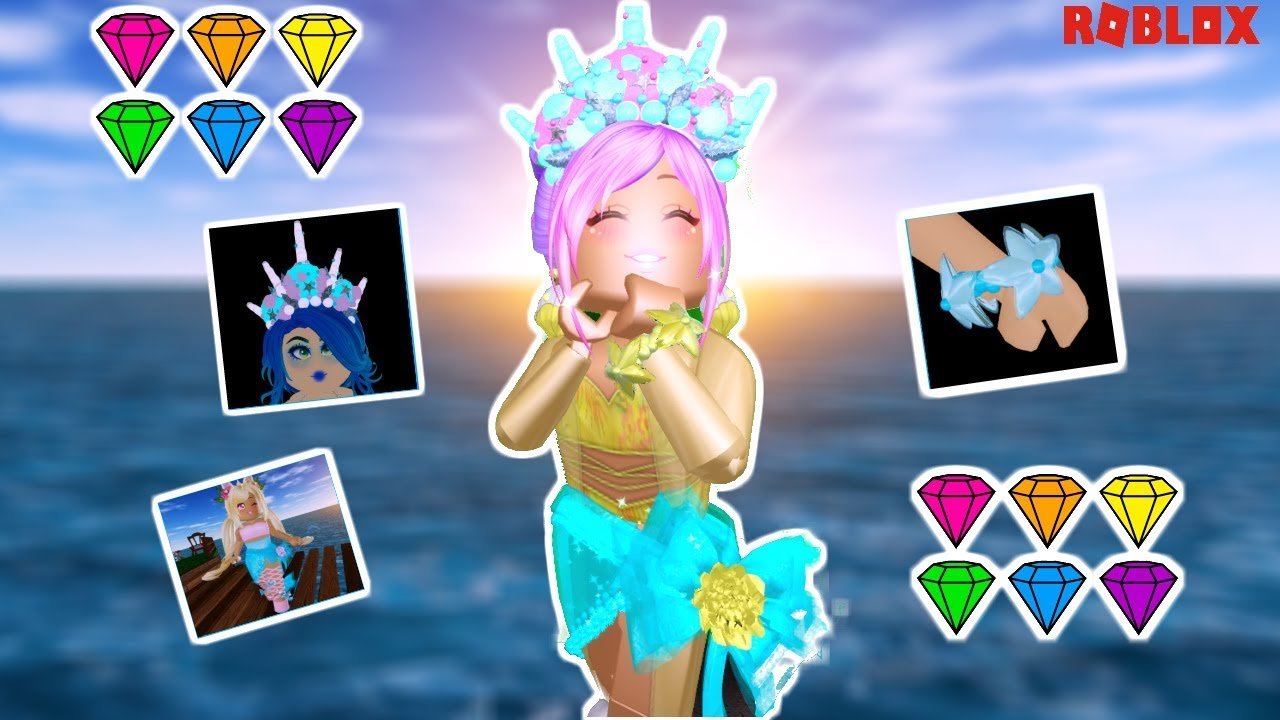 Buying The New Mermaid Crown New Accessories In Royale High Youtube Cartoon smile yellow mermaid with crown on her hand. buying the new mermaid crown new accessories in royale high