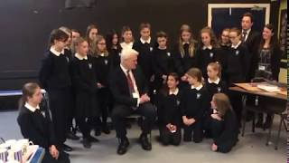 Graham Stuart meets students from Beverley High School