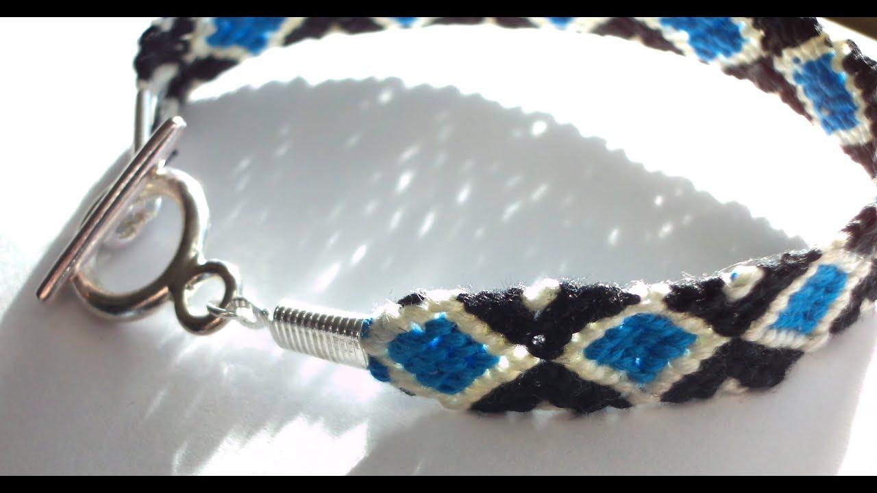 diamond pattern friendship bracelet youtube. Black Bedroom Furniture Sets. Home Design Ideas