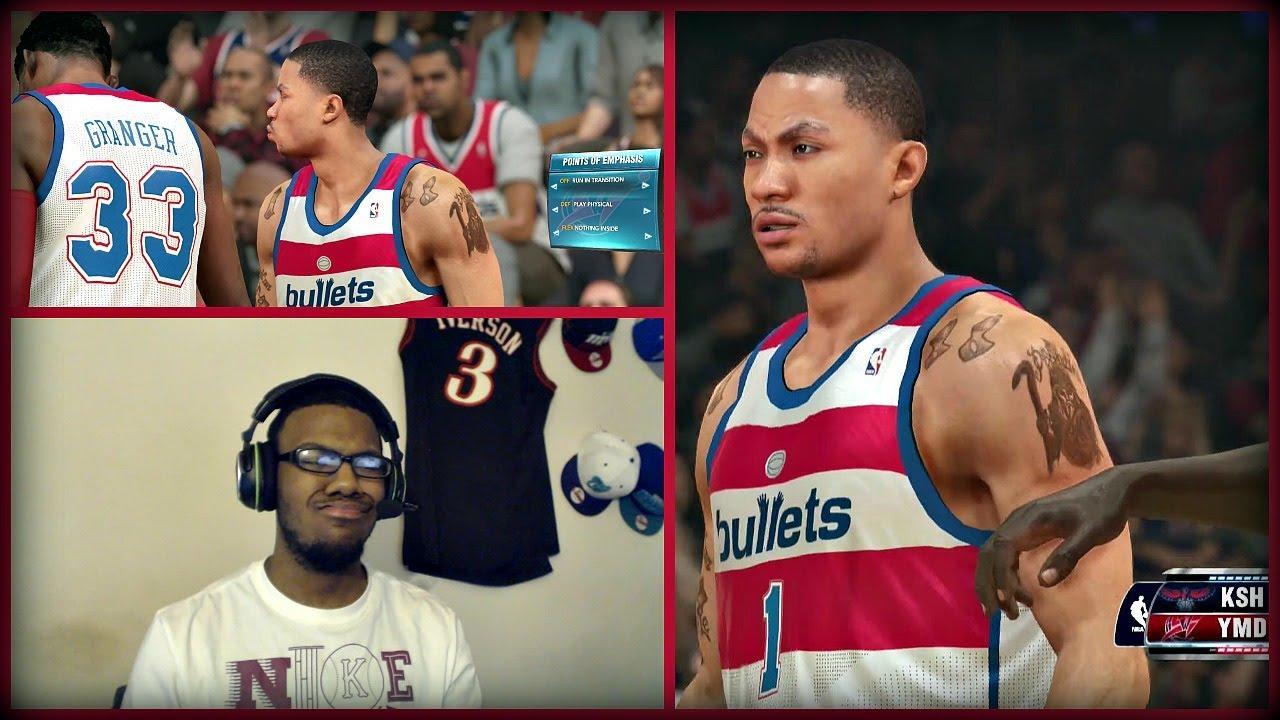 22458e5bb29 NBA 2K14 Next Gen MyTEAM FACECAM - Derrick Rose Debut! PS4 - YouTube