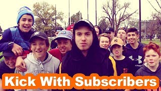 GOAL KICKING CHALLENGE WITH SUBSCRIBERS