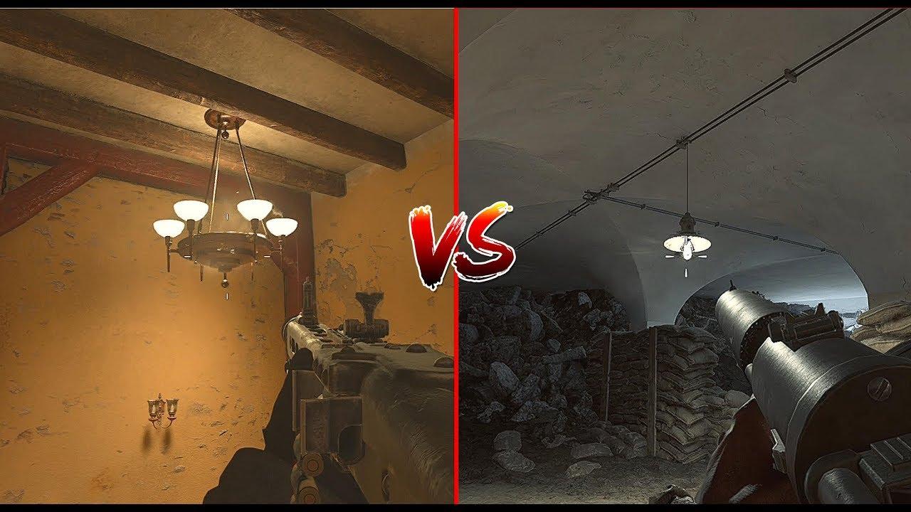 Battlefield 1 ve Call Of Duty WW2 arasında ki detay farkları Videosu