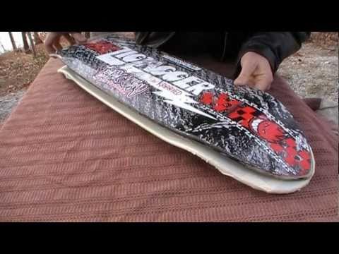 HOW TO: Re-Shape a Used Skateboard into Custom Cut DIY Cruiser - YouTube