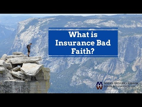 What is Bad Faith Insurance? Attorney Dennis Jones