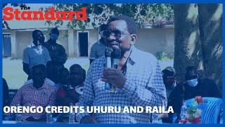 Orengo credits Raila Odinga and President Uhuru for aiding the end of the division of revenue stalem