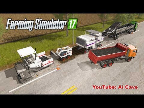 Farming Simulator 2017 Mods - Asphalt Production & Recycling Old Tires