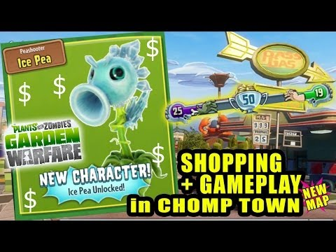 Rare ICE PEA SHOOTER in CHOMP TOWN: Plants vs. Zombies Garden Warfare Spectacular Pack