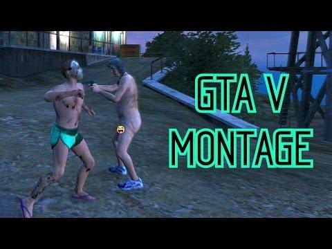 GTA V Montage #8: Naken-byn och Tantarvagnar!