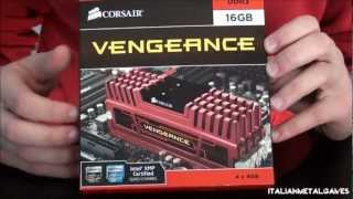 Corsair Vengeance 16 GB DDR3 Memory 1866 mhz Red Unboxing | ItalianMetalGames™