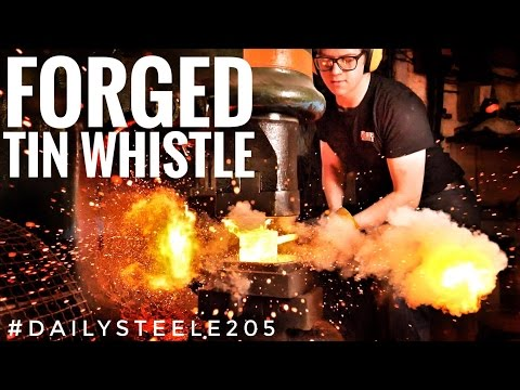 FORGING DAMASCUS MUSICAL INSTRUMENTS: Tin Whistle Part 1