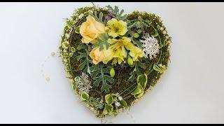 Флористика композиция в форме сердца (Мастер Класс) Свадьба День Валентина. FLOWER DESIGN