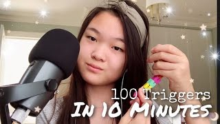 ASMR | 100 Triggers in 10 Minutes 😴