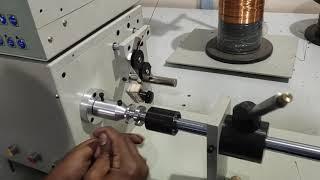 Bobbin less speaker coil winding machine