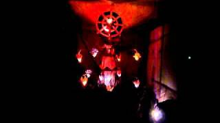 Sri Lanka,ශ්රී ලංකා,Vesak lamp with music beside a road (02)