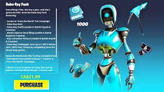New ROBO-RAY PACK!! (Fortnite Battle Royale)