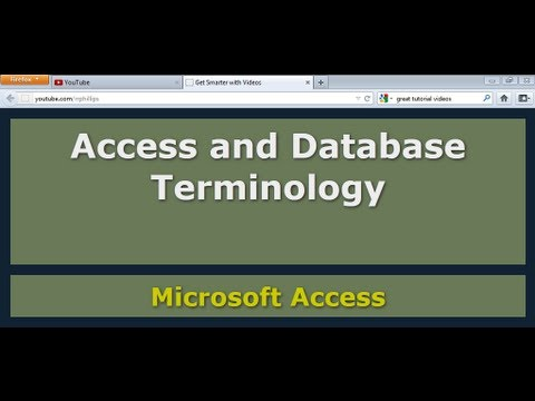 Access and Database Terminology