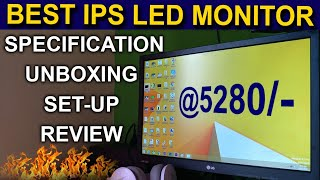 CHEAPEST BEST IPS LED MONITOR DETAIL REVIEW SET-UP SPECIFICATION IN HINDI