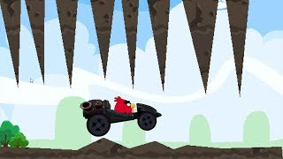 Angry Birds Cross Country - CAR RACING WHEELIE STUNT LEVEL WALKTHROUGH WITH BLACK CAR!