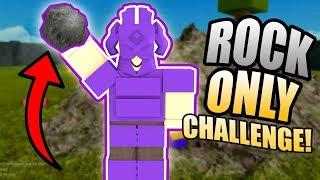 ¡SOLO RETO DE ROCK! ROBLOX: Booga Booga