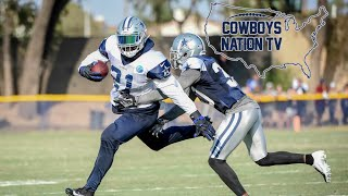 Cowboys Camp Live  🎥Zeke Used in Passing Game🔥| Shultz Scores TD