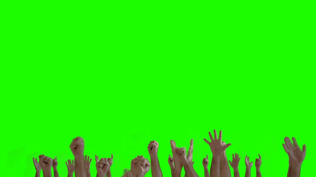 Hands Crowd Green Screen Animation Youtube