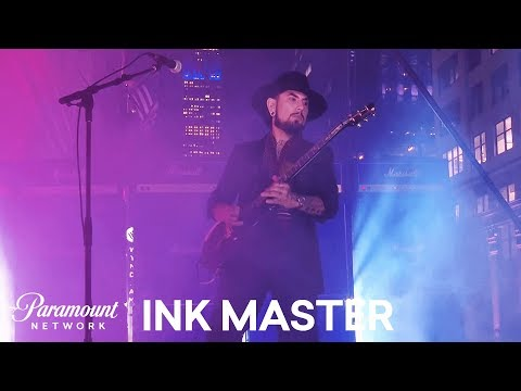 Dave Navarro Performs 'The StarSpangled Banner' 🇺🇸   Ink Master: Shop Wars Season 9