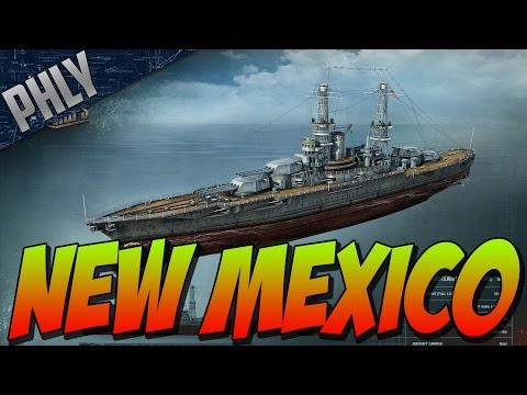 World Of Warships Battleship Gameplay - New Mexico Tier 6 American Battleship