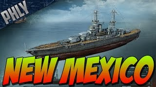 World Of Warships Battleship Gameplay - New Mexico Tier 6 American Battleship