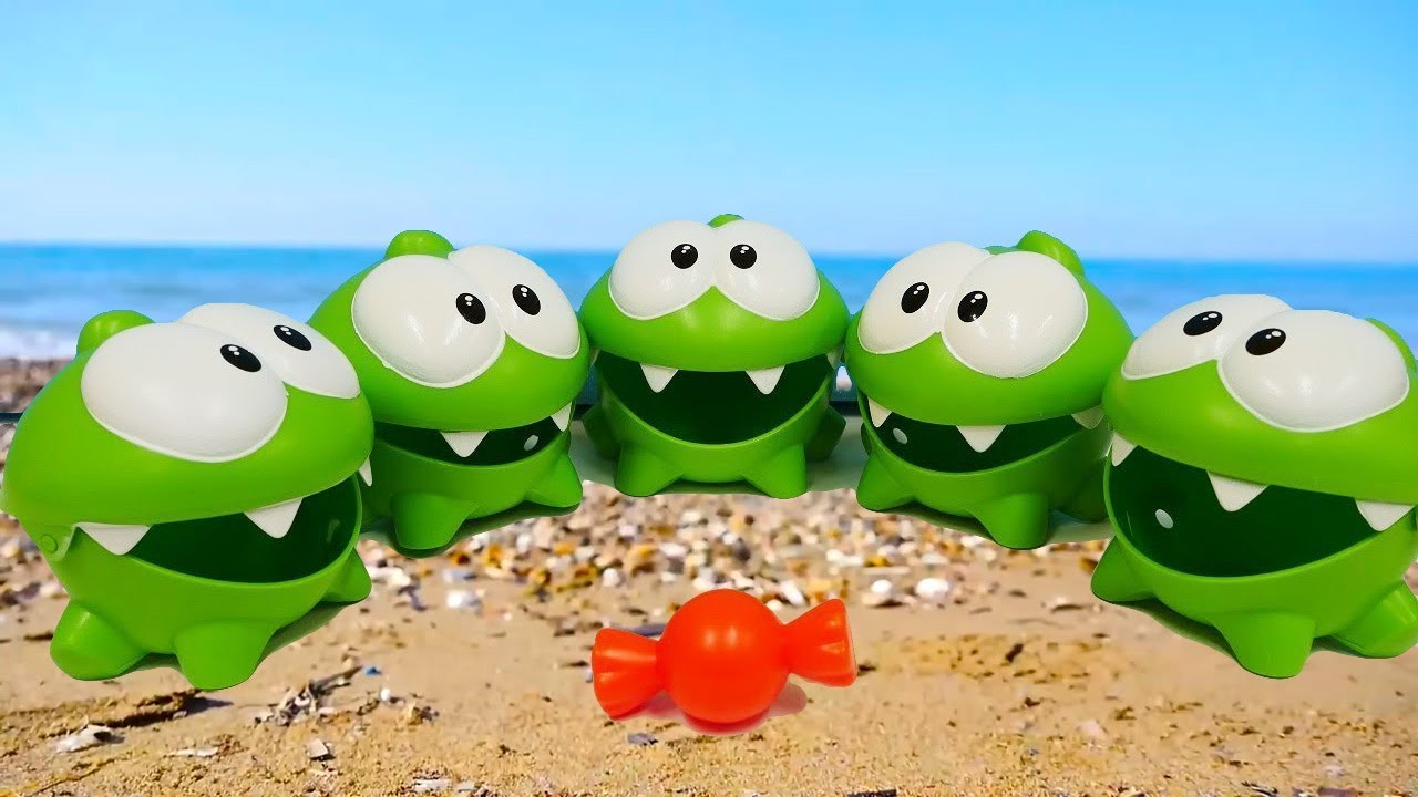 Om Nom Toy Cars On The Beach Toy Videos Youtube