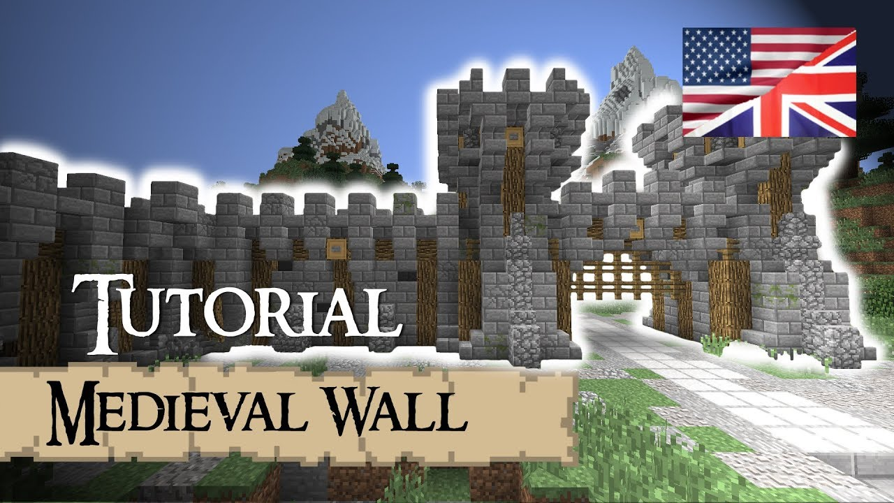 Minecraft Tutorial Medieval WALL English YouTube