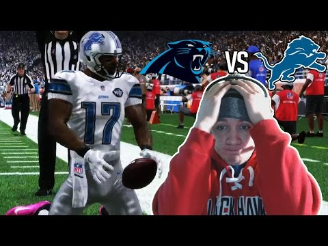 Madden NFL 17 Detroit Lions Franchise- Year 3 Game 7 vs Carolina Panthers