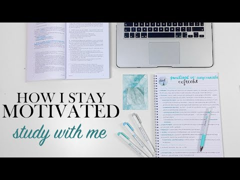HOW I STAY MOTIVATED - Study With Me December 1