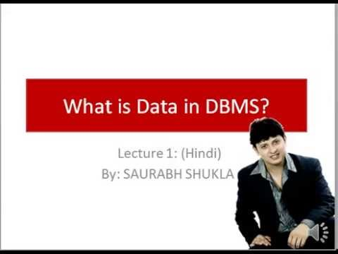 Lecture 1 What is Data in DBMS Hindi