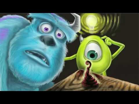 Disney  Monsters Inc.Digital Painting with Music