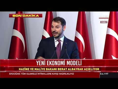 Hazine ve Maliye Bakanı Berat Albayrak açıklama yapıyor