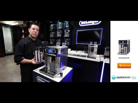 Delonghi's top-of-the range Prima Donna coffee machine also makes hot chocolate - Appliances Online