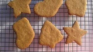 Christmas Day Cutout Gingerbread Cookies - How To Make Gingerbread Cookies Demonstration & Recipe