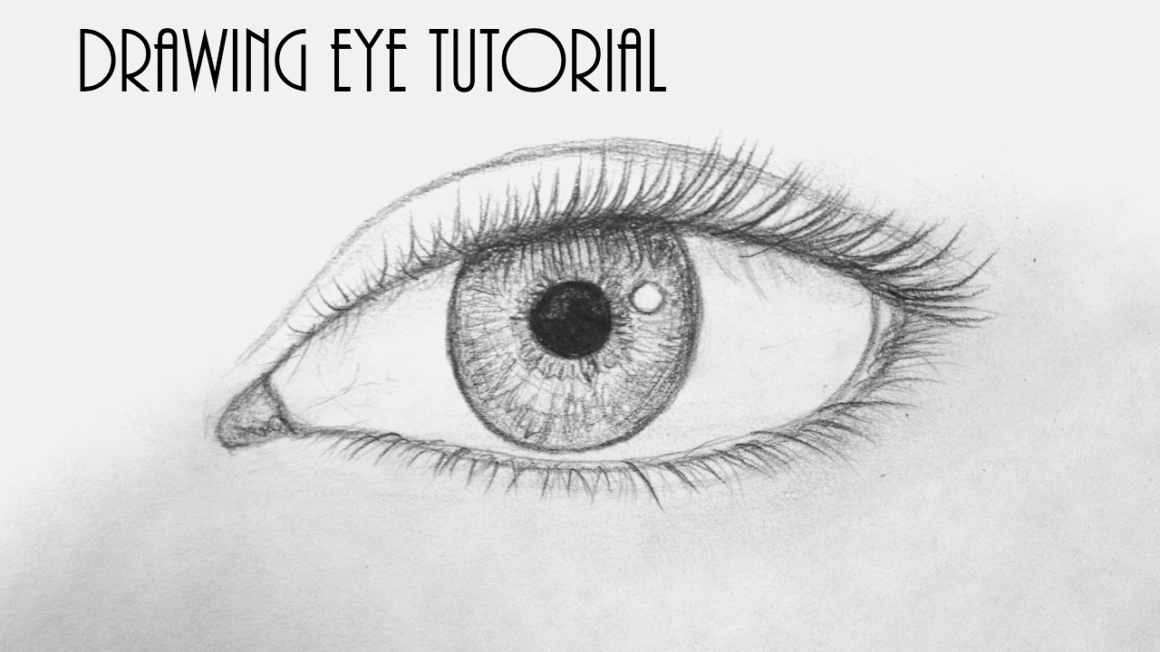 how to draw an eye tutorial for begginers youtube