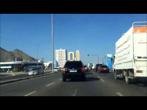 Way to Khor Fakkan Beach UAE