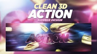 C4D/Photoshop Tutorial: Clean 3D Action Banner Design