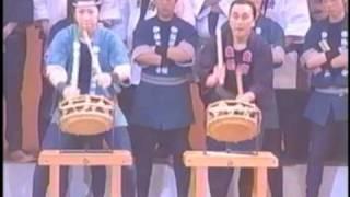 平成19年3月21日に行なわれた「第6回飯坂温泉太鼓 まつり」の中での「飯...