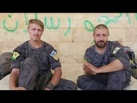 Finnish YPG volunteers Ariel & Bagok condemn attack in Turku, Finland