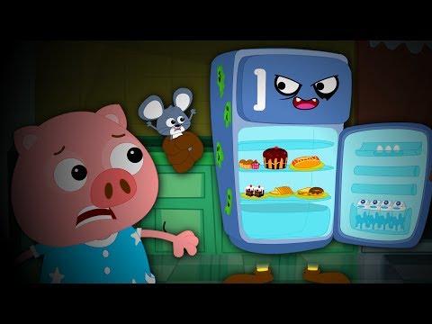 Haunted Fridge   Scary Nursery Rhymes Songs For Children   Videos For Kids   Bud Bud Buddies